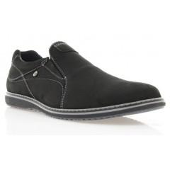 Туфлі чоловічі чорні, нубук (1165/16 чн. Нб+сір.р) Roma style