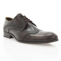 Туфли мужские коричневые, кожа (1183/17 кор. Шк) Roma style