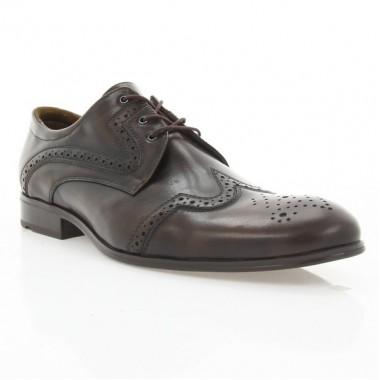 Туфлі чоловічі коричневі, шкіра (1183/17 кор. Шк) Roma style