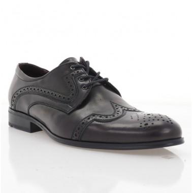 Туфли мужские бордовые, кожа (1183-19 борд. Шк) Roma style