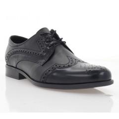 Туфлі чоловічі чорні, шкіра (1183-19 чн. Шк+Флор) Roma style