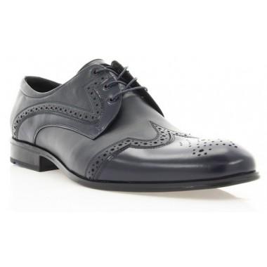 Купити Туфлі чоловічі сині, шкіра (1183/17 сн. Шк) Roma style за найкращими цінами