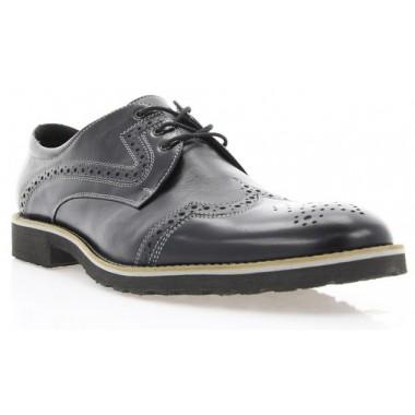 Купить Туфли мужские черные , кожа ( 1183_ЕВА чн. Шк_сір р ) Roma style по лучшим ценам