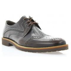 Туфли мужские коричневые, кожа ( 1183_ЕВА кор. Шк ) Roma style