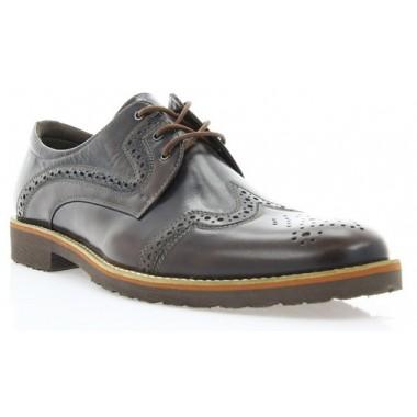 Купить Туфли мужские коричневые, кожа ( 1183_ЕВА кор. Шк ) Roma style по лучшим ценам