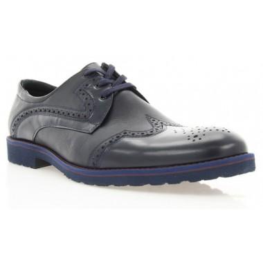 Купити Туфлі чоловічі сині, шкіра (1183_ЕВА сн. Шк) Roma style за найкращими цінами