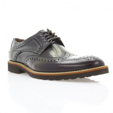 Купити Туфлі чоловічі бордові, шкіра (1183_ЕВА борд. Шк) Roma style за найкращими цінами