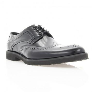 Купити Туфлі чоловічі чорні, шкіра (1183_ЕВА чн. Флор) Roma style за найкращими цінами