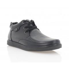 Туфли мужские черные, кожа (1201-20 чн. Шк (байка)) Roma style