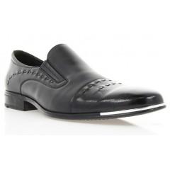 Туфли мужские черные , лакированная кожа / кожа ( 1306 чн. Шк + Лк ) Romastyle