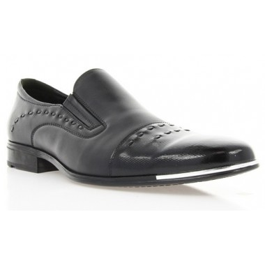 Купити Туфлі чоловічі чорні, лакована шкіра/шкіра (1306 чн. Шк+Лк) Romastyle за найкращими цінами