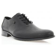 Туфли мужские черные, кожа (1309 чн. Шк) Roma style