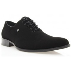 Туфли мужские черные, велюр (1309 чн. Вл) Roma style