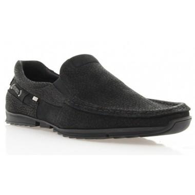 Купить Мокасины мужские черные, нубук (1314/17 чн. Нб) Roma style по лучшим ценам