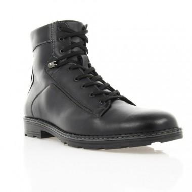 Купить Ботинки мужские черные, кожа (1400 чн. Шк (шерсть)) Romastyle по лучшим ценам
