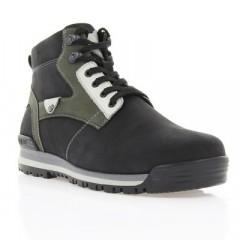 Ботинки мужские черные, нубук (1402 чн. Нб (шерсть)) Romastyle