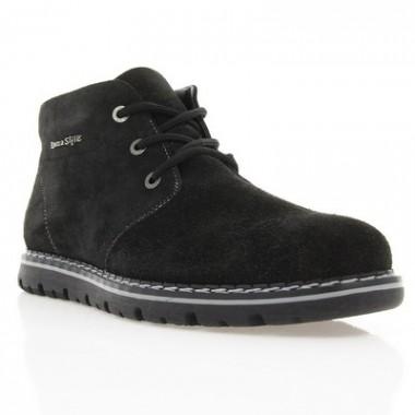 Купить Ботинки мужские черные, замш (1416/16 чн. Зш (шерсть)) Romastyle по лучшим ценам