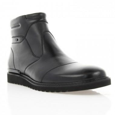 Купить Ботинки мужские черные, кожа (1445/15 чн. Шк (шерсть)) Romastyle по лучшим ценам