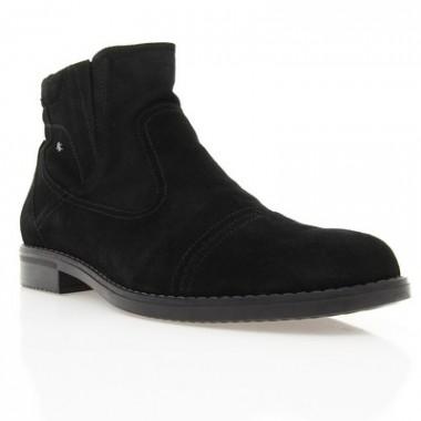 Купить Ботинки мужские черные, замш (1448 чн. Зш (нат. хутро)) Roma style по лучшим ценам