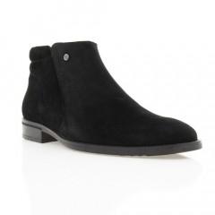Ботинки мужские черные, замш (1451/16 чн. Зш (шерсть)) Romastyle