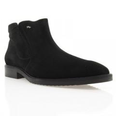 Ботинки мужские черные, замш (1451 чн. Зш (нат. хутро)) Roma style