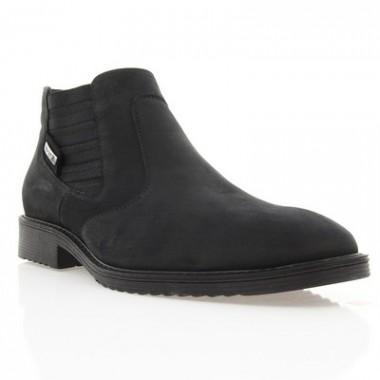 Купить Ботинки мужские черные, нубук (1454 чн. Нб (нат. хутро)) Roma style по лучшим ценам