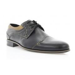 Туфли мужские черные, кожа (1504/16 чн. Шк+бж.р ) Roma style