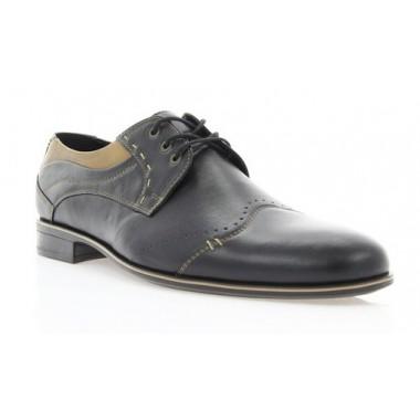 Купить Туфли мужские черные, кожа (1504/16 чн. Шк+бж.р ) Roma style по лучшим ценам