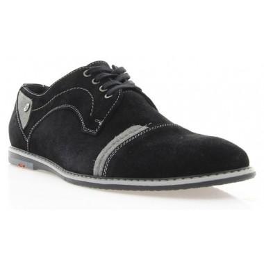 Купить Туфли мужские черные, замша (1509 чн. Зш ) Roma  style по лучшим ценам