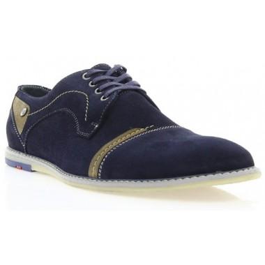Купити Туфлі чоловічі сині, замш (1509 сн. Зш) Romastyle за найкращими цінами