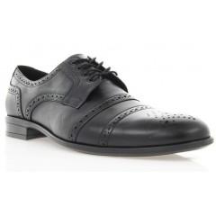 Туфли мужские черные, кожа (1510/16 чн. Шк) Roma style