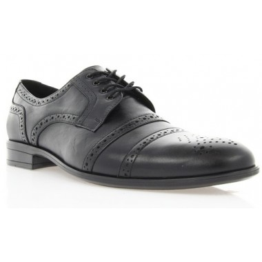 Купить Туфли мужские черные, кожа (1510/16 чн. Шк) Roma style по лучшим ценам