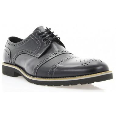 Купить Туфли мужские черные, кожа (1510_ЕВА чн. Шк) Roma style по лучшим ценам
