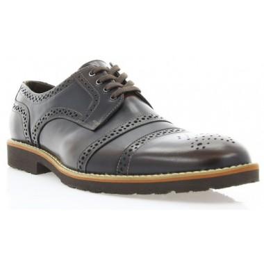 Купить Туфли мужские коричневые, кожа ( 1510_ЕВА кор. Шк ) Roma style по лучшим ценам