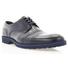 Туфлі чоловічі сині, шкіра (1510_ЕВА сн. Шк) Roma style