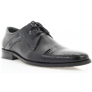 Купити Туфлі чоловічі чорні, шкіра/лакована шкіра (1513_т чн. Шк+Лк) Roma style за найкращими цінами