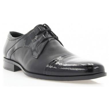 Купить Туфли мужские черные, кожа/лакированная кожа (1513 чн. Шк+Лк) Roma style по лучшим ценам