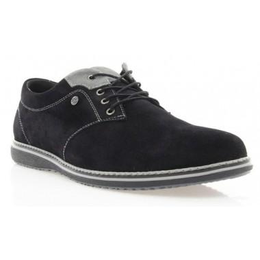 Купить Туфли мужские черные, замша (1530/16 чн. Зш) Roma style по лучшим ценам