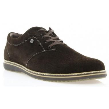 Купить Туфли мужские коричневые, замша (1530/16 кор. Зш) Roma style по лучшим ценам