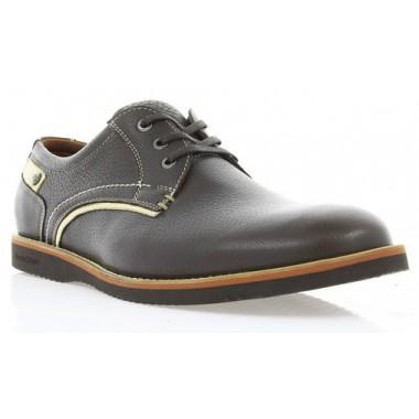 Купить Туфли мужские коричневые, кожа (1530_ЕВА кор. Фл) Roma style по лучшим ценам