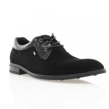 Купити Туфлі чоловічі чорні, велюр/лакована шкіра (1531/17 чн. Вл+Лк) Roma style за найкращими цінами