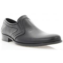 Туфли мужские черные, кожа (1535/17 чн. Шк) Roma style