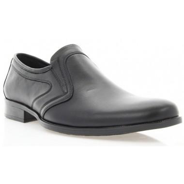 Купить Туфли мужские черные, кожа (1535/17 чн. Шк) Roma style по лучшим ценам