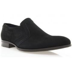 Туфли мужские черные, велюр (1535 чн. Вл) Roma style