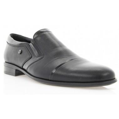 Купить Туфли мужские черные, кожа (1545/16 чн. Шк) Roma style по лучшим ценам