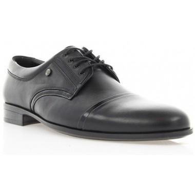 Купити Туфлі чоловічі чорні,  шкіра (1546/16 чн. Шк) Romastyle за найкращими цінами