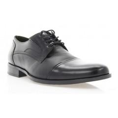 Туфли мужские черные, кожа (1548/17 чн. Шк+Флор ) Roma style