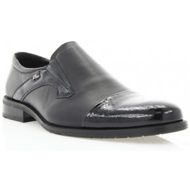 Купить Туфли мужские черные, лакированная кожа/кожа (1549_т чн. Шк+Лк ) Romastyle по лучшим ценам