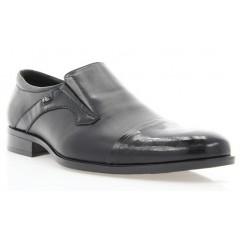 Туфли мужские черные, лакированная кожа/кожа (1549 чн. Шк+Лк) Roma style