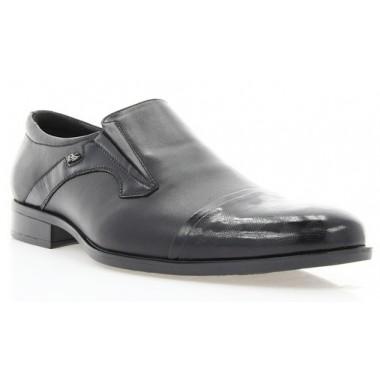 Купить Туфли мужские черные, лакированная кожа/кожа (1549 чн. Шк+Лк) Roma style по лучшим ценам